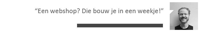 Een webshop bouw je in een weekje, aldus Maarten Blommestijn